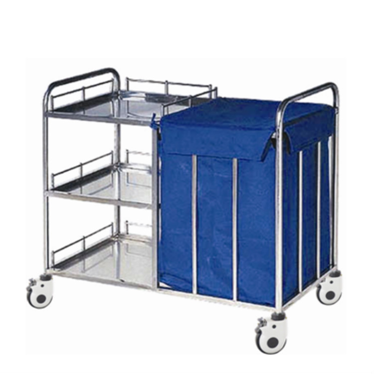 Stainless steel morning care trolley for treatment