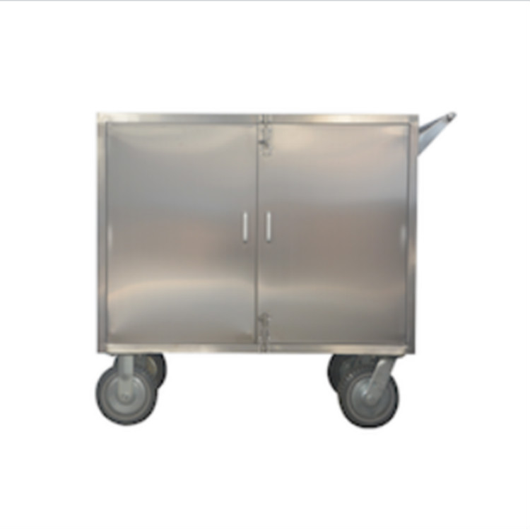 Stainless Steel Sealed Goods Delivery Trolley